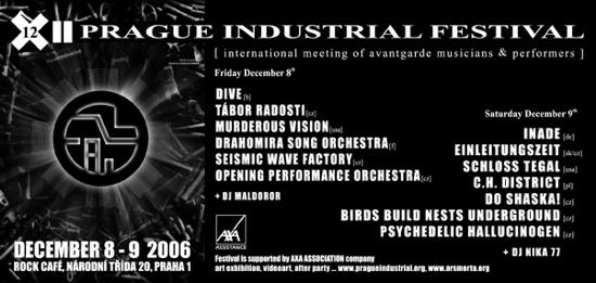 Flyer - Prague Industrial Festival, December 8-9, 2006